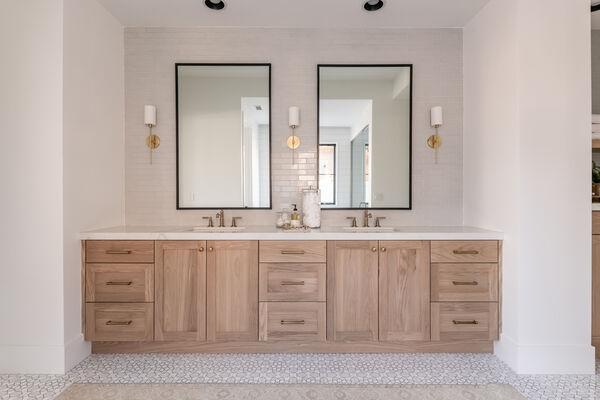 Becki Owens: Gray Tile Bathroom