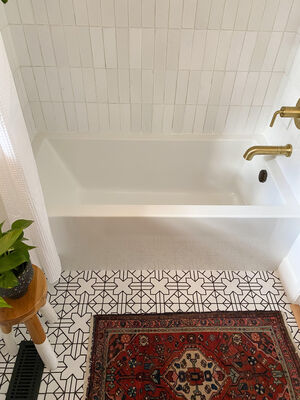 Girl & Grey: Quick Ship White Bathroom Tiles