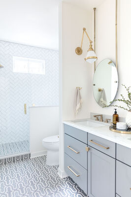 Kate Lester Interiors: Gray Malin's Mazagan Bathroom
