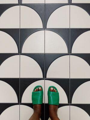 This House 5000: Custom Fallow Kitchen Floor