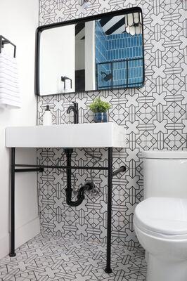 Joyful Designs Studio: Kasbah Bathroom with Aegean Sea Shower