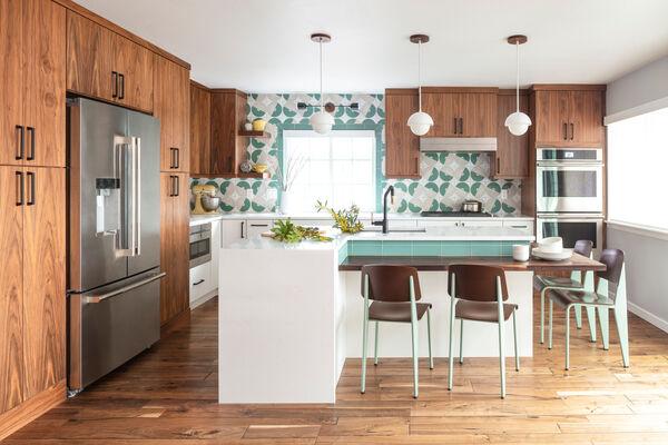 Custom Handpainted Maze Kitchen