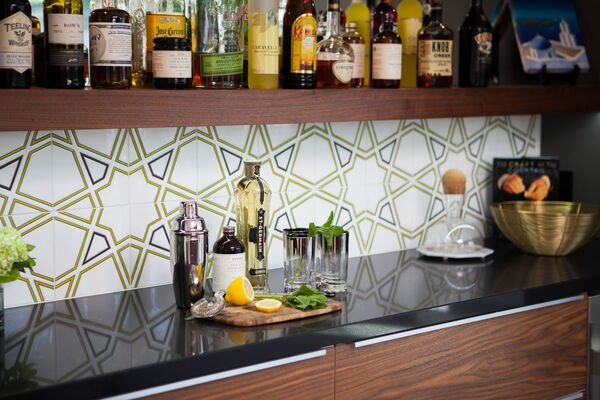 Mt. Ranier Eichler: Padma Bar Backsplash
