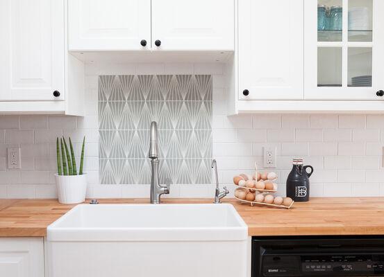 Contemporary Handpainted Kitchen