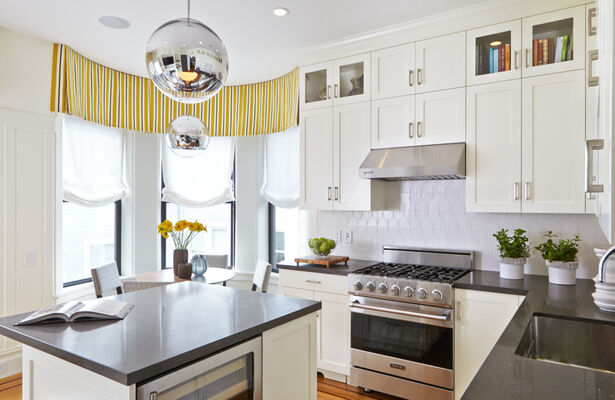 Neutral and Contemporary Handpainted Kitchen