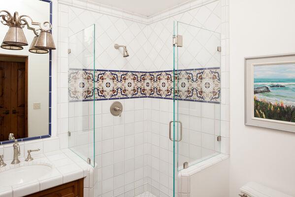 Traditional Handpainted Bathroom