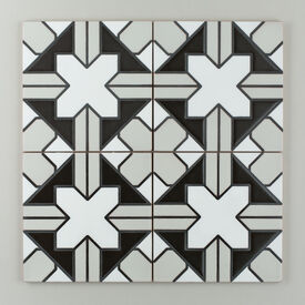 Black  White  Motif  Kasbah  Trellis