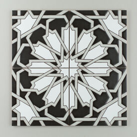 Black  White  Motif  Persian  Star