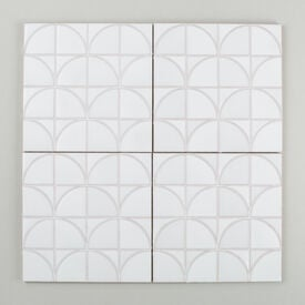 Contemporary  Handpainted  Interlaced  Leaves  Updated  Nov 2015  White  Motif