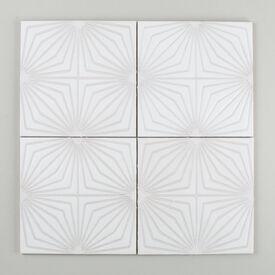 Contemporary  Handpainted  Starburst  Updated  Nov 2015  White  Motif