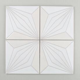 Contemporary  Handpainted  Palmera  Updated  Nov 2015  White  Motif