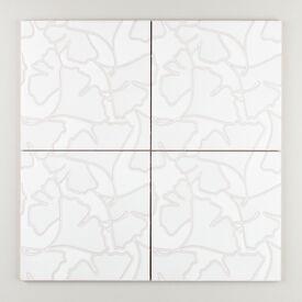 Ginkgo  On  Gray  Sakura  White  Motif Final