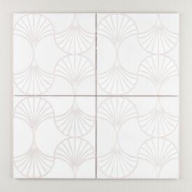 On  Gray  Sakura  Sensu  White  Motif Final