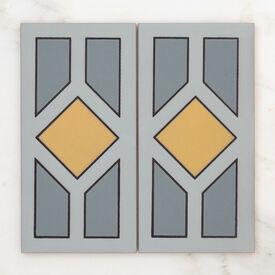 2019 Q2 Product Detail Photo Handpainted Metropolitan 6X12 Chicago Yellow Motif Group Crop